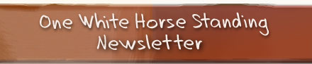 One White Horse Standing Newsletter